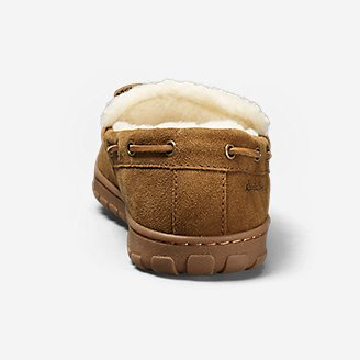 Thumbnail View 2 - Men's Shearling-Lined Moccasin Slipper