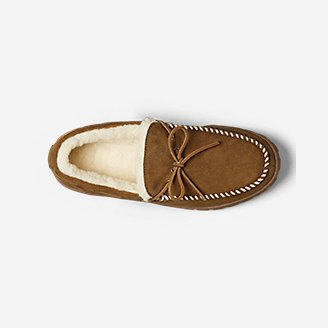Thumbnail View 3 - Men's Shearling-Lined Moccasin Slipper