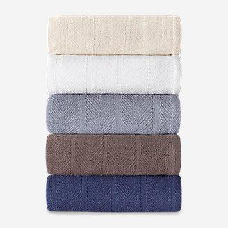 Thumbnail View 3 - Herringbone Cotton Blanket - Chrome