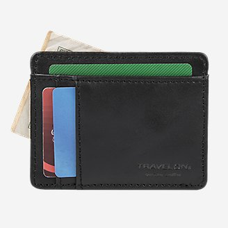 Thumbnail View 3 - Travelon® RFID Leather Card Holder