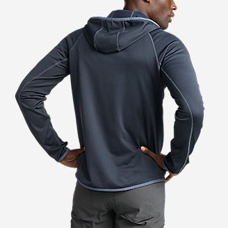 Thumbnail View 2 - Men's High Route Grid Fleece 1/2-Zip Hoodie