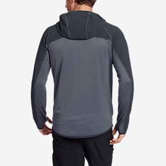 Thumbnail View 2 - Men's High Route Grid Hybrid Full-Zip Hoodie