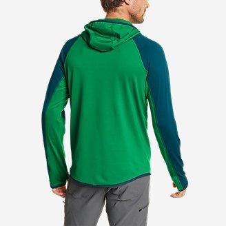 Thumbnail View 3 - Men's High Route Grid Fleece 1/2-Zip - Colorblock