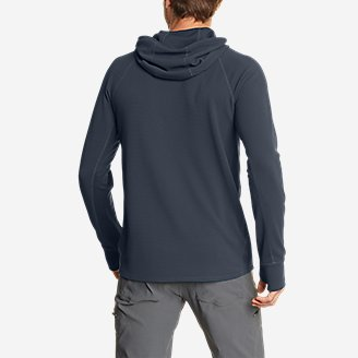 Thumbnail View 2 - Men's Thermal Tech Pullover Hoodie