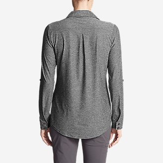 Thumbnail View 2 - Women's Infinity Long-Sleeve Button-Front Shirt