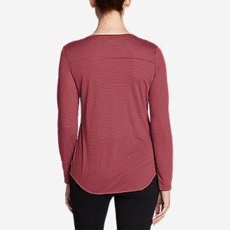 Thumbnail View 2 - Women's Mercer Knit Henley Shirt - Stripe