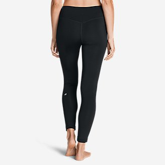 Thumbnail View 2 - Women's Crossover Fleece Leggings - Solid