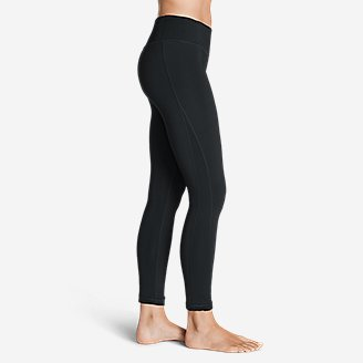 Thumbnail View 3 - Women's Crossover Fleece Leggings - Solid