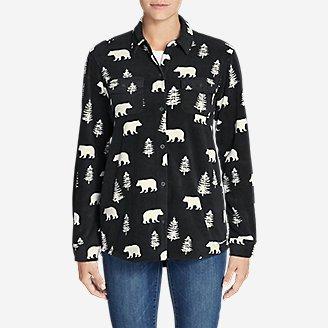 Thumbnail View 3 - Women's Chutes Fleece Shirt Jacket - Print