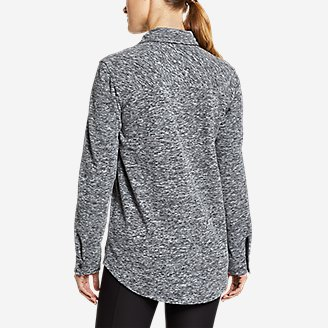 Thumbnail View 3 - Women's Chutes Fleece Shirt Jacket - Print