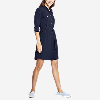 Thumbnail View 3 - Women's Departure Long-Sleeve Shirt Dress