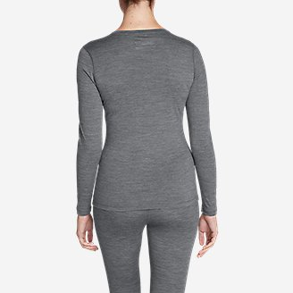 Thumbnail View 2 - Women's Midweight FreeDry® Merino Hybrid Baselayer Long-Sleeve Crew