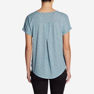 Thumbnail View 2 - Women's Mercer Knit Roll-Sleeve Bateau T-Shirt - Solid