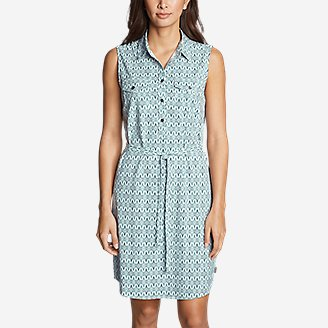 Thumbnail View 3 - Women's Departure Sleeveless Shirt Dress - Print
