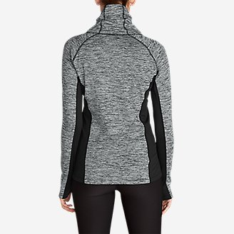 Thumbnail View 2 - Women's Crossover Fleece Funnel-Neck Pullover