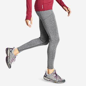 Thumbnail View 3 - Women's Crossover Fleece Trail Tight Leggings - High Rise