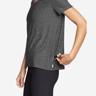 Thumbnail View 3 - Women's Infinity Scoop-Neck T-Shirt w/Pocket