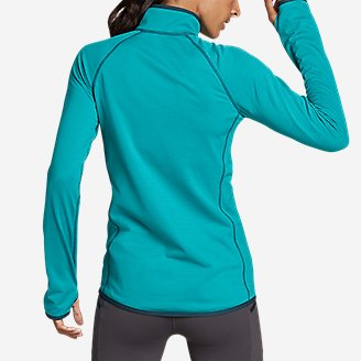 Thumbnail View 2 - Women's High Route Grid Fleece 1/4-Zip