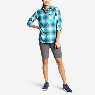 Thumbnail View 3 - Women's Eddie Bauer Expedition Performance Flannel Shirt