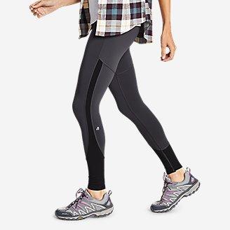 Thumbnail View 2 - Women's Crossover Fleece High Rise Leggings - Color Block