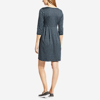 Thumbnail View 2 - Women's Aster 3/4-Sleeve Crossover Dress with Pockets - Space Dye