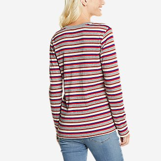 Thumbnail View 2 - Women's Myriad Rib Long-Sleeve Crew - Stripe