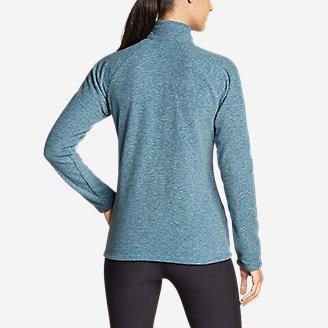 Thumbnail View 2 - Women's Quest Fleece Raglan-Sleeve Full-Zip Jacket - Solid