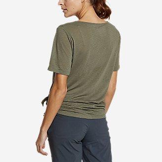 Thumbnail View 2 - Women's Day Hiker Burnout Asymmetrical T-Shirt