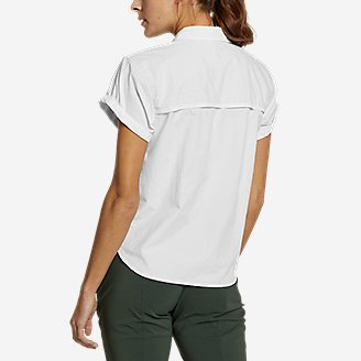 Thumbnail View 2 - Women's Mountain Ripstop Short-Sleeve Camp Shirt