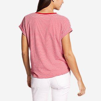 Thumbnail View 2 - Women's Myriad Tie-Front Short-Sleeve T-Shirt - Stripe