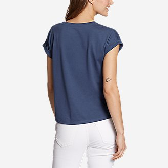 Thumbnail View 2 - Women's Myriad Tie-Front T-Shirt - Solid