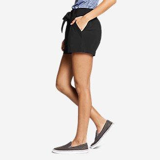 Thumbnail View 3 - Women's Departure High-Rise Mesh-Inset Shorts
