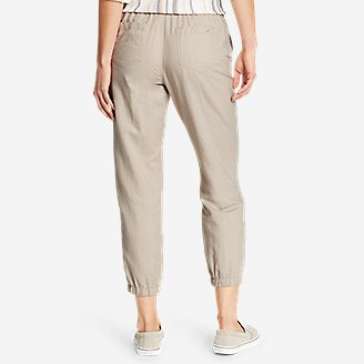 Thumbnail View 2 - Women's Linen Pull-On Jogger Pants