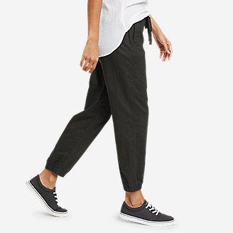 Thumbnail View 3 - Women's Linen Pull-On Jogger Pants