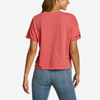 Thumbnail View 2 - Women's Go-To Embroidered-Sleeve T-Shirt