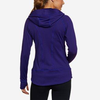 Thumbnail View 3 - Women's High Route Grid Fleece Full-Zip Jacket