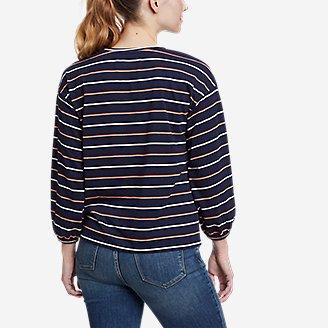 Thumbnail View 2 - Women's Myriad 3/4-Length Volume Sleeve T-Shirt - Stripe