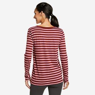 Thumbnail View 2 - Women's Myriad Long-Sleeve Crew T-Shirt - Stripe