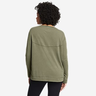 Thumbnail View 2 - Women's Tempo Light Long-Sleeve Boat-Neck T-Shirt