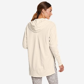 Thumbnail View 2 - Women's Mineral Wash Terry Full-Zip Hoodie