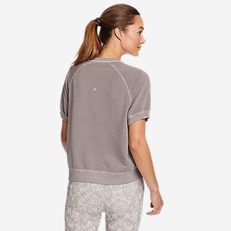 Thumbnail View 2 - Women's Motion Short-Sleeve Sweatshirt
