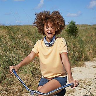 Thumbnail View 3 - Women's Motion Short-Sleeve Sweatshirt