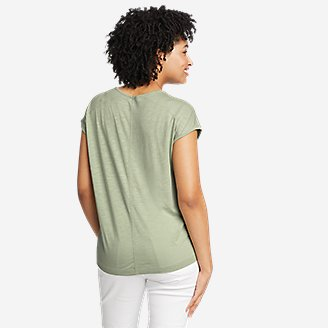Thumbnail View 2 - Women's Gate Check Embroidered Short-Sleeve T-Shirt