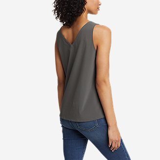 Thumbnail View 2 - Women's Departure V-Neck Tank Top - Solid