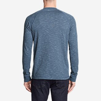Thumbnail View 2 - Men's Basin Long-Sleeve Henley Shirt