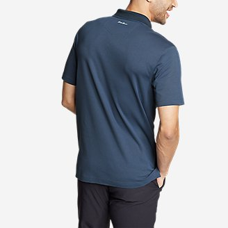 Thumbnail View 2 - Men's Voyager 2.0 Short-Sleeve Polo Shirt - Classic Fit, Solid