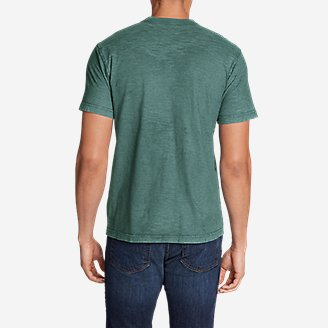 Thumbnail View 2 - Men's Legend Wash Short-Sleeve Slub Henley Shirt