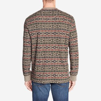 Thumbnail View 2 - Men's Thermal Long-Sleeve Crew - Print