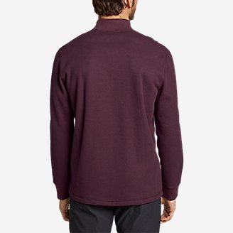 Thumbnail View 2 - Men's Sherpa-Lined Thermal Henley