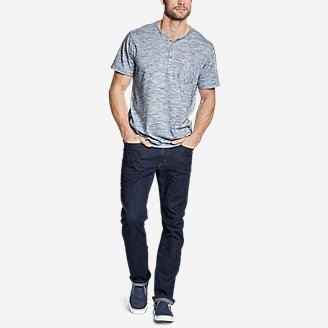 Thumbnail View 3 - Men's Legend Wash Pro Short-Sleeve Henley - Space Dye